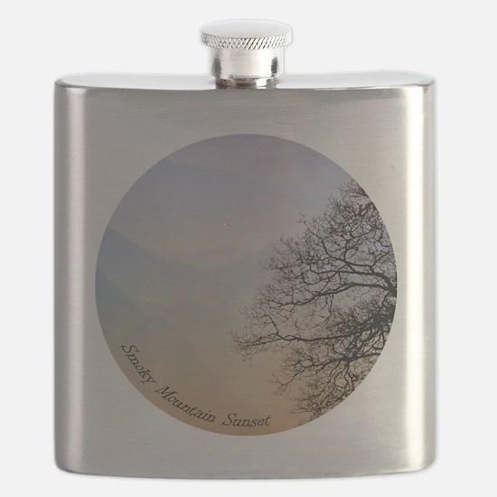 TreeSunsetRidges_13Cir Flask