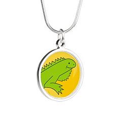 IguanaEO Silver Round Necklace