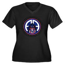Panther v1_3 Women's Plus Size Dark V-Neck T-Shirt