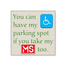 "10 x 10 HandicapParking Square Sticker 3"" x 3"""