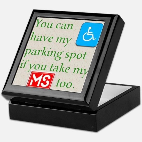 10 x 10 HandicapParking Keepsake Box