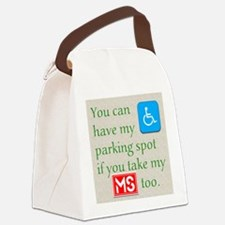 10 x 10 HandicapParking Canvas Lunch Bag
