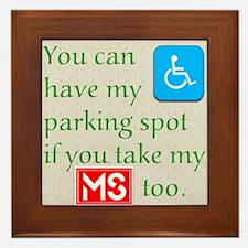 10 x 10 HandicapParking Framed Tile