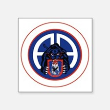 """Panther v1_2nd-505th-White Square Sticker 3"""" x 3"""""""