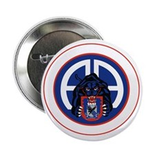 "Panther v1_2nd-505th-White 2.25"" Button"