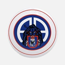 Panther v1_3rd-505th-White Round Ornament