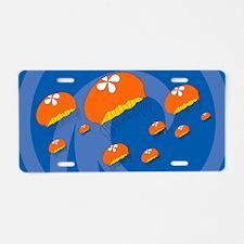Jellyfish38O Aluminum License Plate