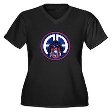Panther v1_2 Women's Plus Size Dark V-Neck T-Shirt