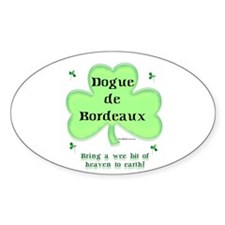 Dogue Heaven Oval Decal