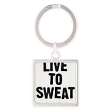 Live to Sweat Square Keychain