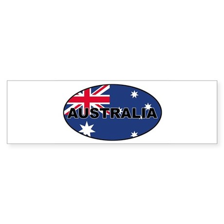 Australia-flag-oval Bumper Sticker