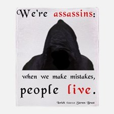 assassins-mistakes-jons-version Throw Blanket