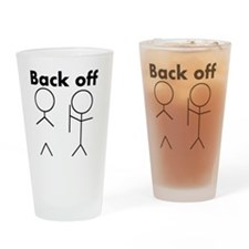 back off Drinking Glass