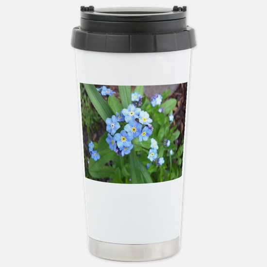 forget-me-not-blue-01 Stainless Steel Travel Mug