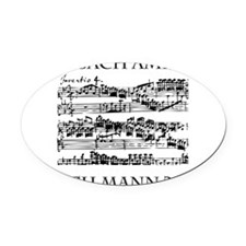 Bach Back-4 Oval Car Magnet