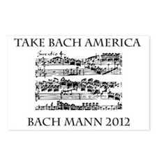 Bach Back-4 Postcards (Package of 8)