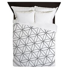 flower of life symbol Queen Duvet