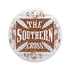 southern cross-brick red Round Ornament