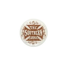 southern cross-brick red Mini Button