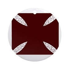 southern cross-dark red solid Round Ornament