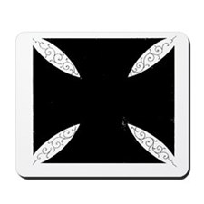 southern cross-solid black Mousepad