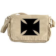 southern cross-solid black Messenger Bag