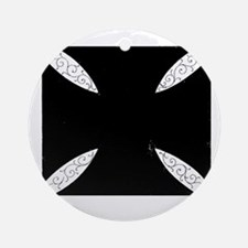 southern cross-solid black Round Ornament