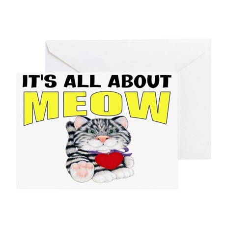 funny cat gift Greeting Card