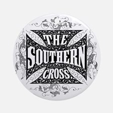 southern cross - black Round Ornament