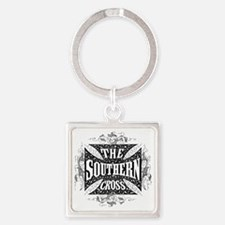 southern cross - black Square Keychain