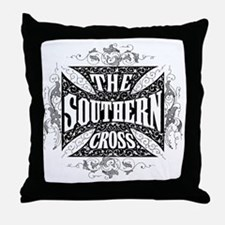 southern cross - black Throw Pillow