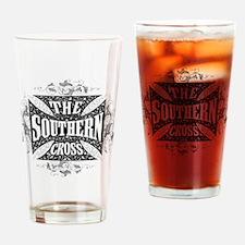 southern cross - black Drinking Glass