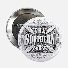 """southern cross - black 2.25"""" Button"""