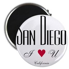 SanDiego_10x10_ILoveU_BlackRed Magnet