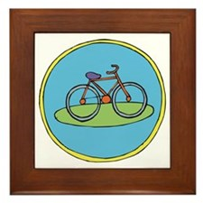 Round bicycle Framed Tile
