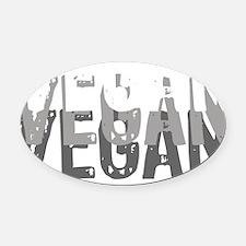 vegan-01 Oval Car Magnet