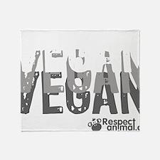 vegan-01 Throw Blanket