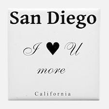 SanDiego_10x10_ILoveUMore_Black Tile Coaster
