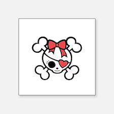 """mollybow-4-diva-DKT Square Sticker 3"""" x 3"""""""