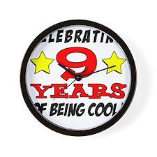 Celebrating 9 Years Wall Clock