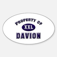 Property of davion Oval Decal