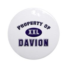 Property of davion Ornament (Round)