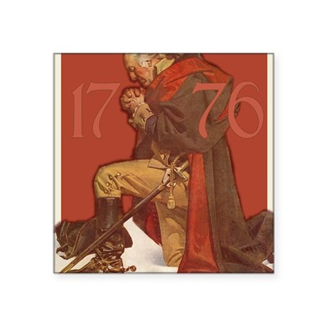 "Washington Praying Square Sticker 3"" x 3"""