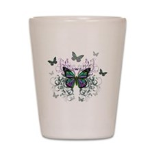 MultiColor Butterfly Shot Glass
