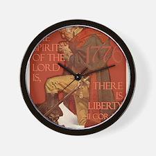 Washington There is Liberty Wall Clock