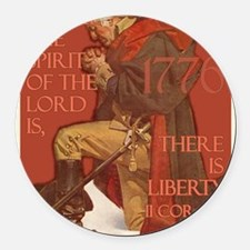 Washington There is Liberty Round Car Magnet