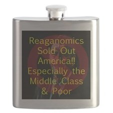 Reagan Sold Out America Flask
