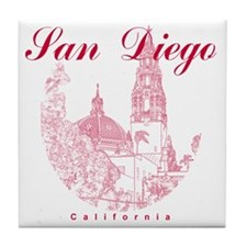 SanDiego_10x10_CaliforniaTower_Round_ Tile Coaster