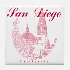 SanDiego_10x10_CaliforniaTower_Round_ Tile Coaster