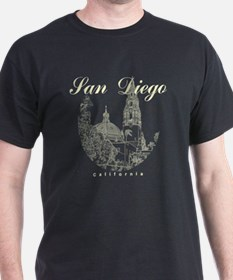 SanDiego_10x10_CaliforniaTower_Round_ T-Shirt